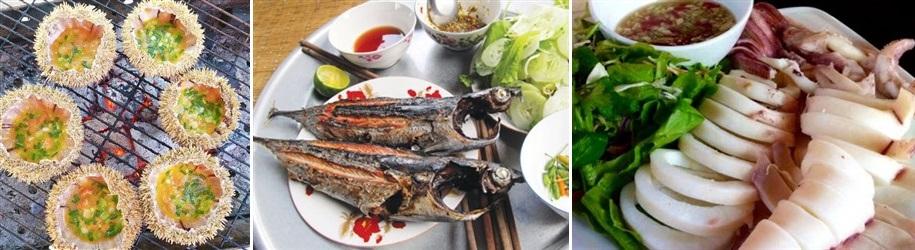 hải sản tại hòn chùa - tour hòn chùa 1 ngày - phú yên tourist